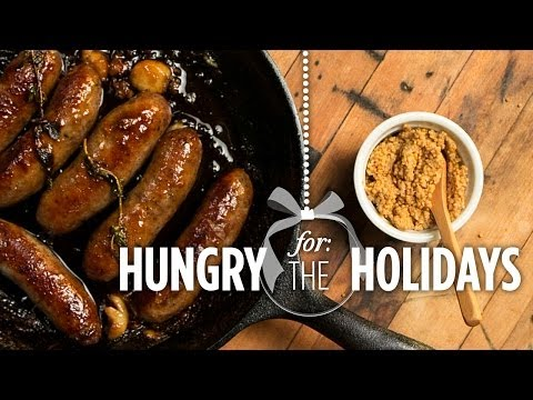 Beer Braised Sausages | Hungry for the Holidays