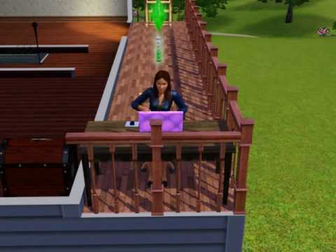 sims 3 : my sims (sophia) writing her novel