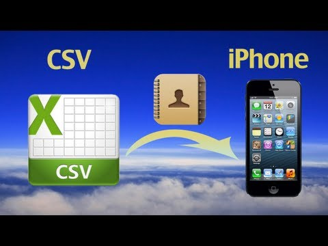 CSV Contacts to iPhone: Import CSV contacts files to iPhone 6/5/5C/5S/4S/4 or iPhone contacts to CSV