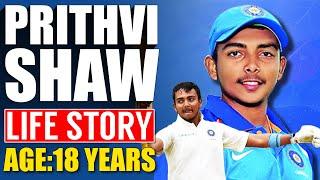 Prithvi Shaw Life Story   Delhi Capitals Player   IPL 2019