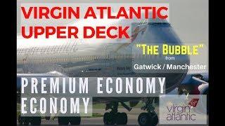 Tour Virgin Atlantic's Premium Economy Purple seats London