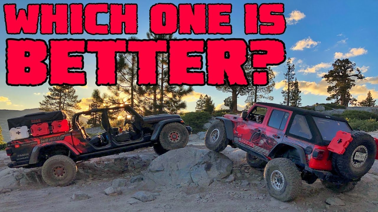JEEP GLADIATOR vs WRANGLER RUBICON  On The Rubicon Trail California