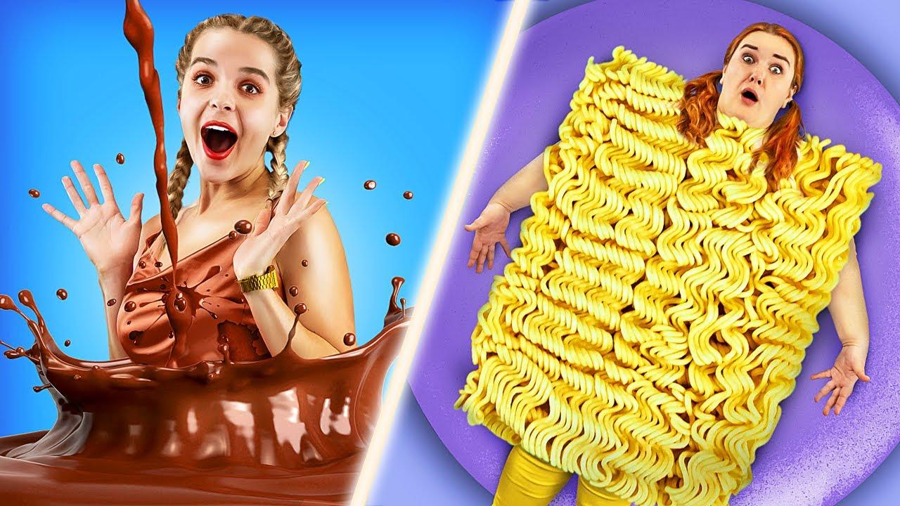 Rich Food vs Broke Food Challenge!