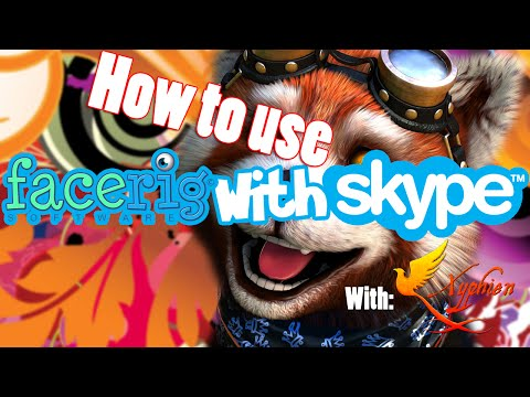 How to use FaceRig on Skype.