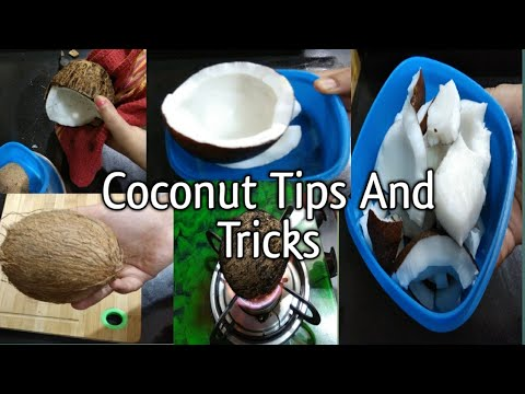 Easiest way to Remove Coconut Flesh From Shell | 2 Ways to Remove Coconut Meat from shell