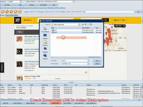 Yellow Pages Scraper Software with Business Email Extractor