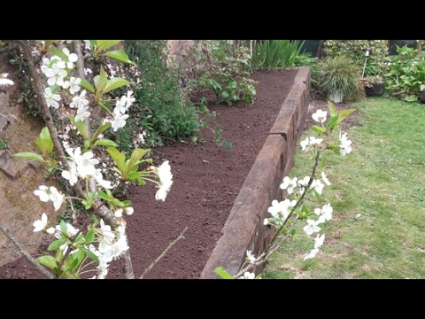 Raised sleeper beds landscaping lawncare