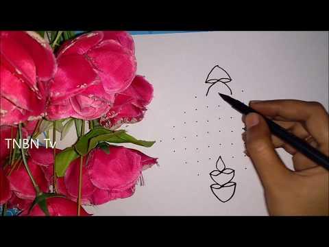 simple and easy diwali rangoli designs | creative rangoli designs with dots | rangavallikalu designs