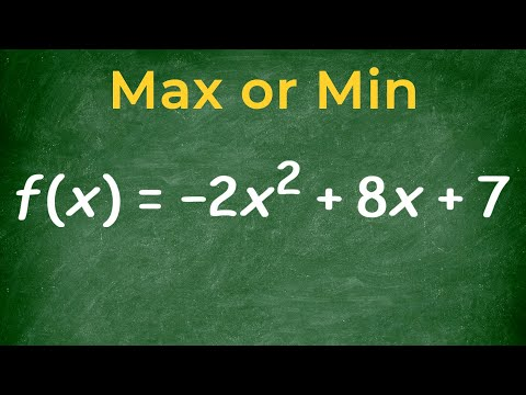 Determine if a quadratic has a max or min value then find it (mistake)