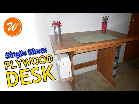 How To Make A Simple Plywood Desk | Single Sheet DIY