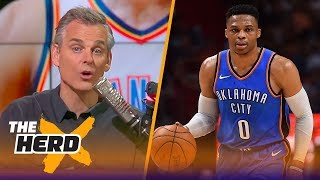 Colin takes issue with the inconsistent coverage of Russell Westbrook and Kevin Durant | THE HERD