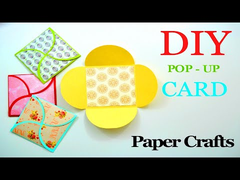 DIY Crafts - How to make a Greeting Paper Card - DIY Birthday Cardmaking - Scrapbooking Gift Ideas