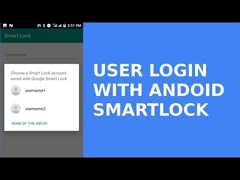 USER LOGIN WITH ANDROID SMARTLOCK CREDENTIALS