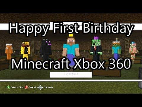 Minecraft Xbox 360 - Happy Birthday Minecraft! (Free Birthday Skin Pack) May 9th 2013.