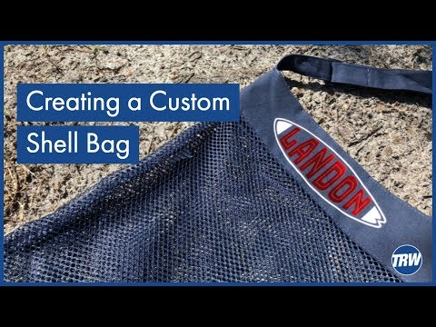 Creating a Custom Name Shell Bag in Silhouette Studio and CorelDRAW