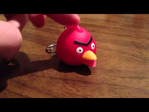 Fake Angry Birds Accessories - Key Holder with LED