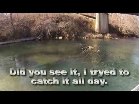 Winter river fishing in the Ozarks