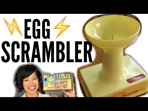 1970s ELECTRIC Egg SCRAMBLER - a spinning needle egg beater   VINTAGE Does it Work?