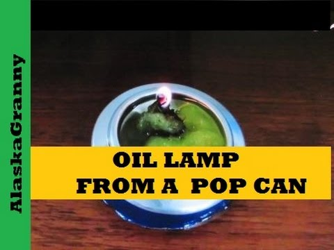 Oil Lamp From a Pop Can