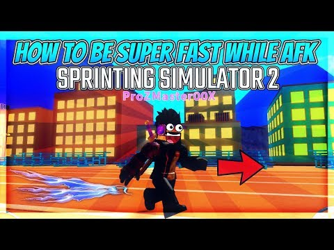 BEST HACK, HOW TO GET SPEED SUPER FAST WHILE AFK!! (Sprinting Simulator 2) | Roblox Gameplay