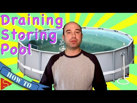 Intex Ultra Frame Pool Draining and Take Down