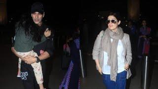 Super Star AKSHAY KUMAR Birthday Celbrations  Flies with Twinkle Khanna & Kids to LONDON
