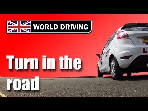 How to do a turn in the road (3 point turn)