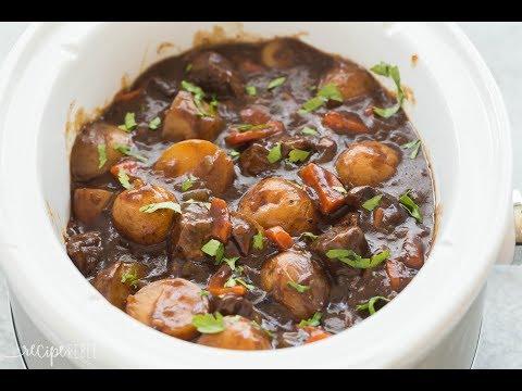 Honey Balsamic Slow Cooker Beef Stew Recipe