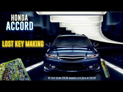 Honda Accord Lost Key making (8E Chip using TM100)