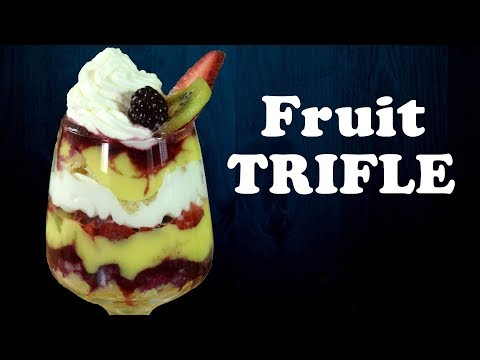 Fruit Trifle Recipe| Eggless Custard recipe from scratch| Easy Dessert Recipe| Yummylicious