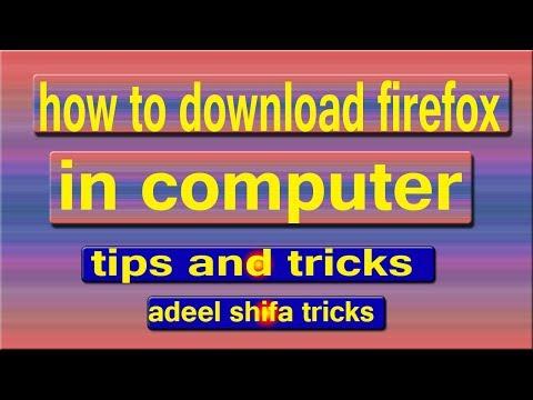 How to Download Mozilla Firefox in Computer in Hindi adeel shifa tricks