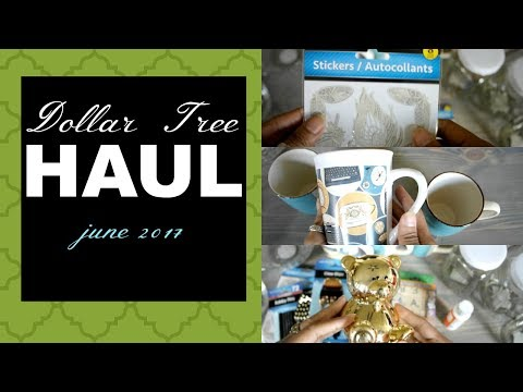 Dollar Tree Haul || Amazing new finds || June 1, 2017