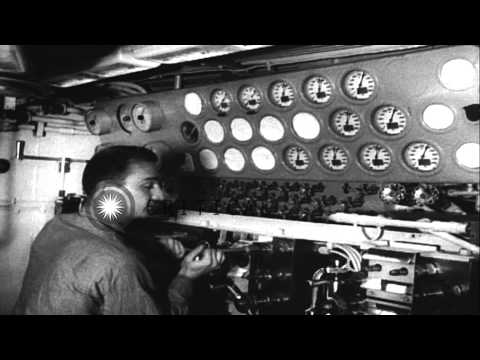 USS Nautilus (SSN-571) submarine on a cruise from Groton to New York. HD Stock Footage