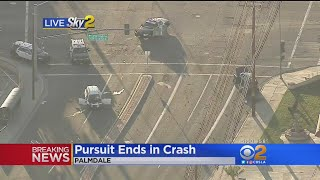 Pursuit Ends With Crash In Palmdale
