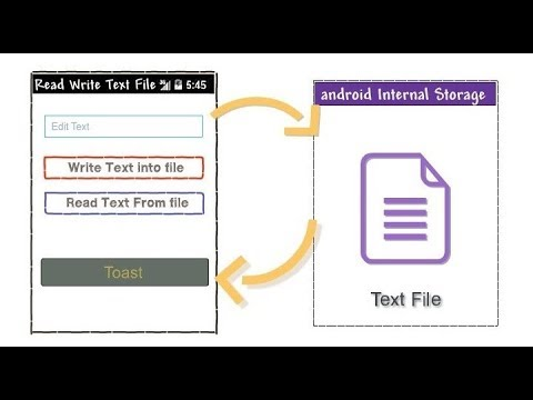 How to write and read txt-files from your Android Application | Android App Development video #08