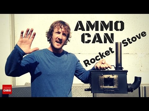 My ammo can stove. A homemade wood stove (rocket stove) with a secondary burn system.