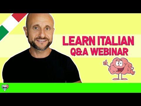 Learn to Speak Italian FAST - Q&A Webinar