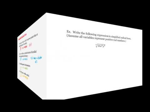 Math 1A/1B. Pre-Calculus: Simplified Radical Form