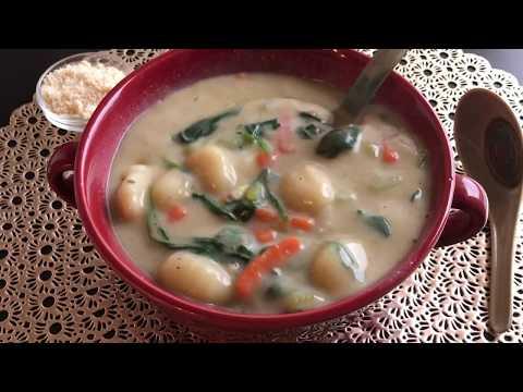 Vegetable Gnocchi Soup   Vegan (Olive Garden Inspired)