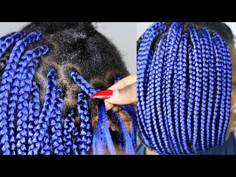 How To Hide Natural Hair Color Inside Colored Braiding Hair Tutorial