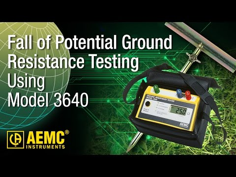 AEMC® - 3640 Fall Of Potential Testing - How-To