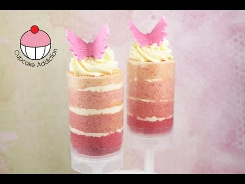 Beautiful Ombre Push Pops! Make Layered Cake Shooters - A Cupcake Addiction How To Tutorial
