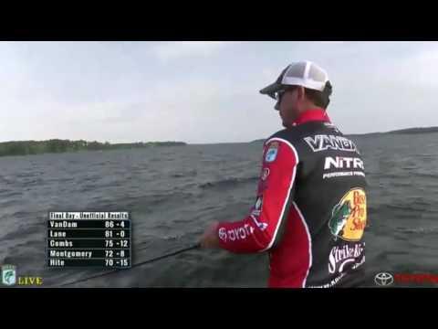KVD fishing live - day 4 Toledo Bend - part 3
