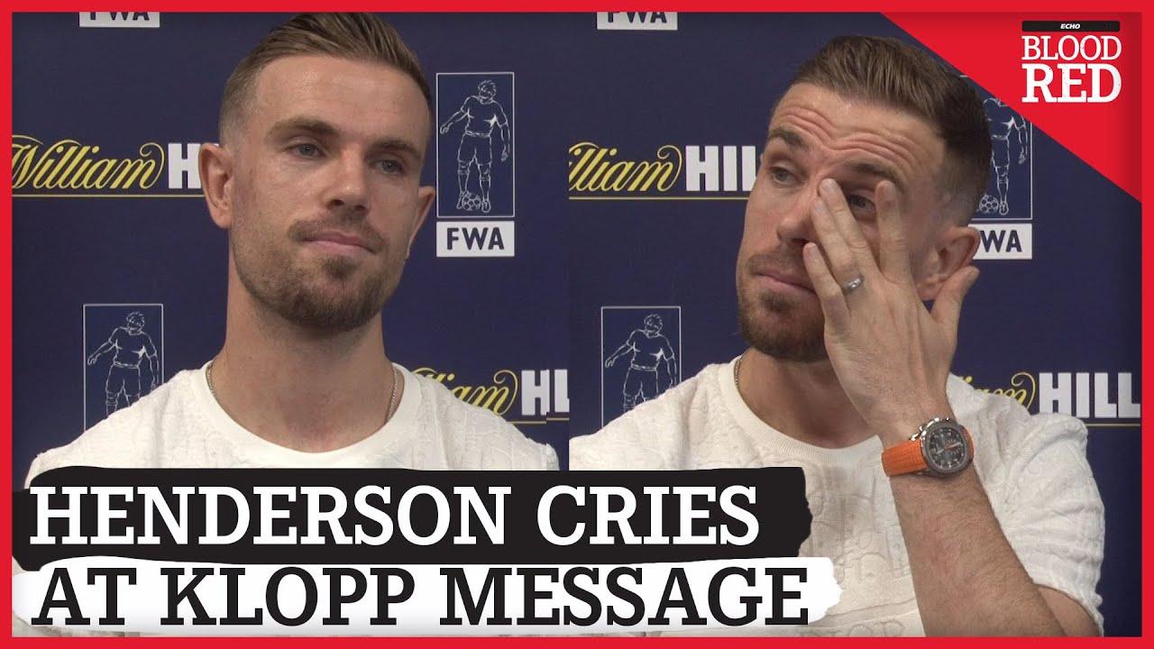 Jordan Henderson Cries at Emotional Message from Jurgen Klopp