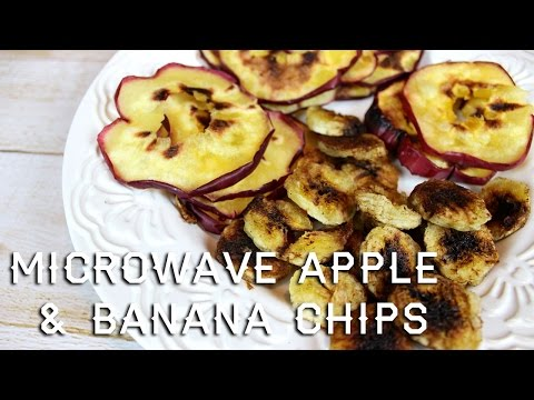 Microwavable Apple & Banana Chips Recipe | parejeda