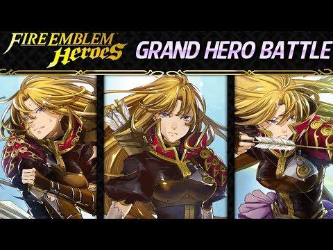 Fire Emblem Heroes - Grand Hero Battle: Clarisse INFERNAL F2P Units, No SI and No Seals