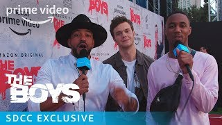 The Boys: Cosplay Red Carpet with Jack Quaid, Laz Alonso & Jessie T. Usher at SDCC2019 | Prime Video