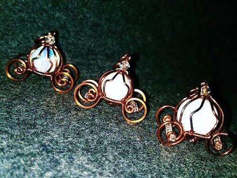 pumpkin vehicle pendant with opalite - Cinderella carriage 6