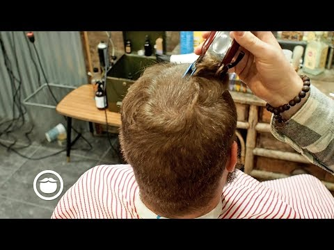 Barber Gives the Perfect Buzz Cut