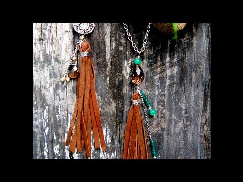 How To Make a Leather Tassel Necklace - DIY Style Tutorial - Guidecentral